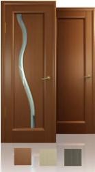 Межкомнатная дверь - Новая волна, остекление S