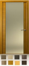 Межкомнатная дверь  De-Vesta , остекление P