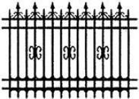 Забор прямой 001
