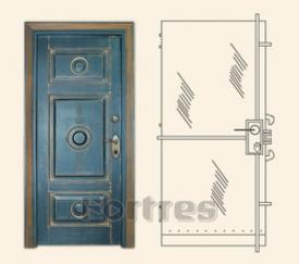 Стальные двери MULTLOCK Модель  Редут - Плюс  Четыре