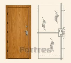 Стальная дверь MUL-T-LOCK Модель ФОРТРЕС - абсолют Д