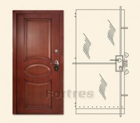 Стальная дверь  MUL-T-LOCK  Модель Гладиатор-Дизайн