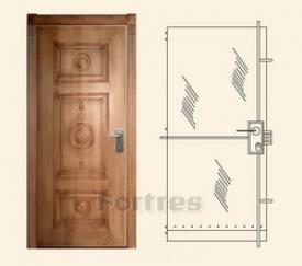 Стальная дверь  MUL-T-LOCK Модель Цитадель-Дизайн Ше