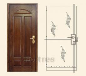 Стальная дверь  MUL-T-LOCK Модель  Форт-Дизайн     Ч