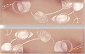 Fleuri rose listello s/2 fap ceramiche бордюр
