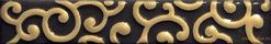 Infinita damasco nero listello fap ceramiche бордюр