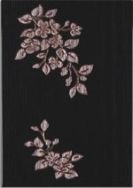 Капри Керамическая плитка Капри черный декор2