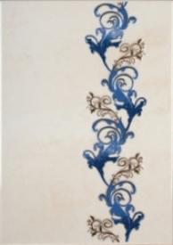 Мрия / Mria Керамическая плитка Мрия декор синий