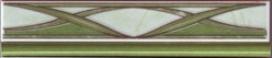 Елена / Elena Керамическая плитка Елена Цветок Фриз зеленая