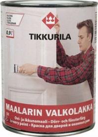 Алкидная краска TIKKURILA (Тикурила) МААЛАРИН ВАЛКОЛАККА A 0.9 л