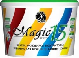 Краска моющаяся для кухонь и ванных Wellpaints MagicHome 15