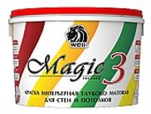 Краска интерьерная для стен и потолков Wellpaints MagicHome 3 мо