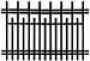 Забор прямой 002